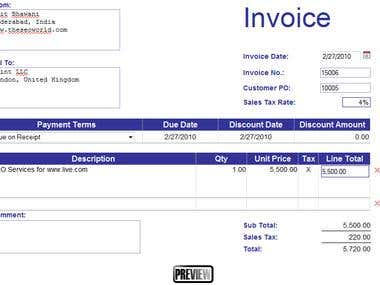 Built Invoice System using PHP ,MYSQL user can generate