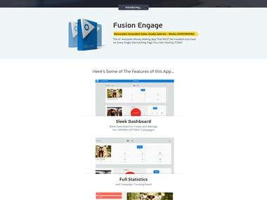 Sale page Design and Development for Fusion Engage
