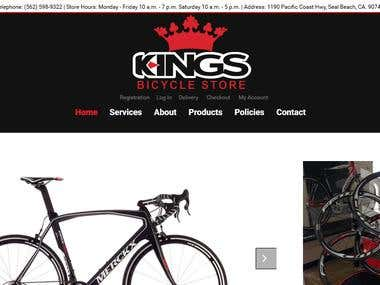 ecommerce portal for selling bicyles online