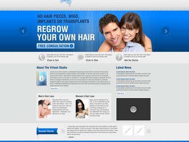 Website for Hair Loss Solution