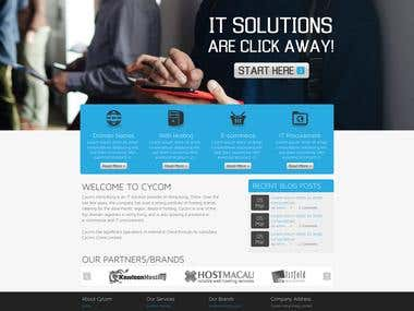 PHP website for IT Solution Company