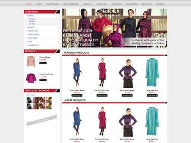Website Layout Design for Online Store