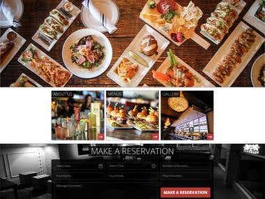 Website concept design for a Bar/Restaurant