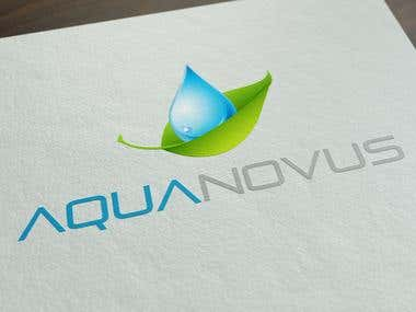 "Logo design for \""Aqua Novus\\\"" company"