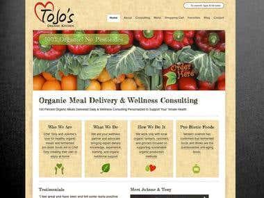 ecommerce web design / shopping cart website / Web Design /