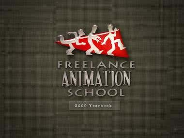 Book Design for Animation School Year Book