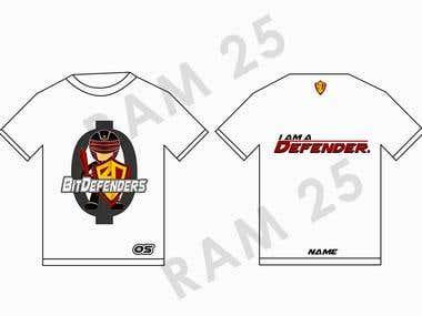 BIT Defenders T-shirt design
