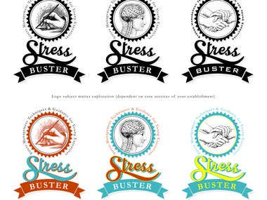 Stress buster logo exploration