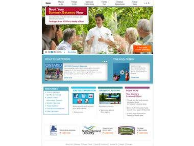 Ontario Travel Website Project