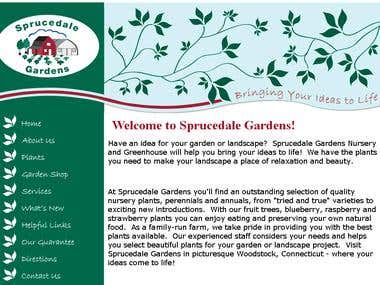 sprucedale gardens design and website