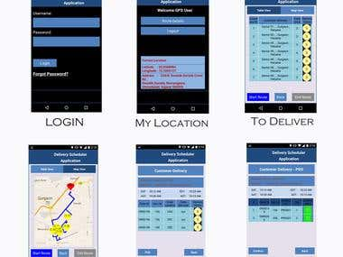 Delivery Scheduler and Tracking System Mobile Application