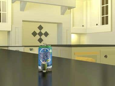Realistic 3D+fluid simulation