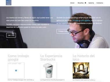 Blog web Page