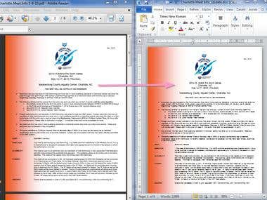 PDF Conversion to Word