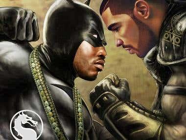 Meek Mill vs Drake_ cover design by SaintMackGFX