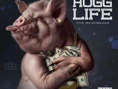Hogg Life_Cover design by @SaintMackGFX