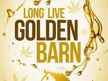 Golden Barn Poster_design by @SaintMackGFX