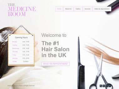 Hair Salon Wordpress Site