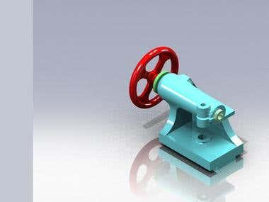 Tailstock 3D Modelling