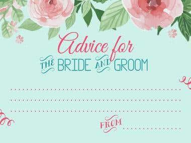 Advice wedding card
