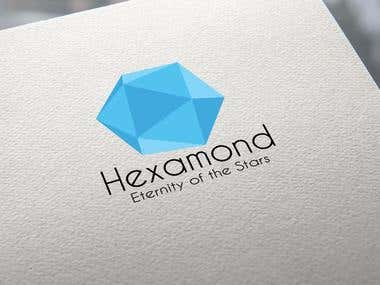 Hexamond- Blue Diamond Logo