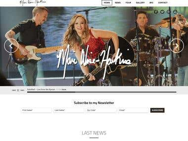 Wordpress personal site for Musician