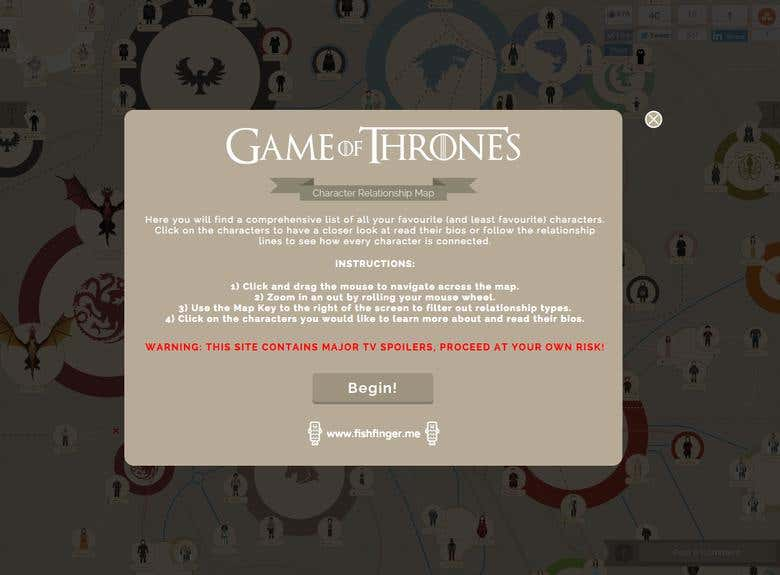 Game of Thrones Interactive Infographic | Freelancer