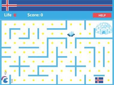 pacman game for learning typing