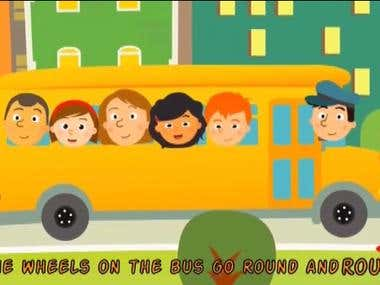 Wheels on the bus: 2D animation