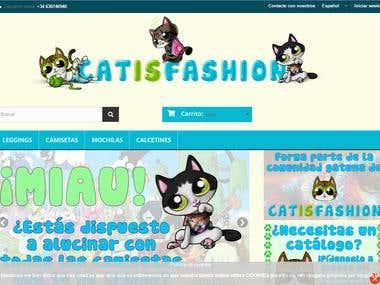 Diseño web de tienda de moda divertida