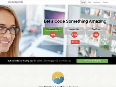 Bootstrap/ Wordpress Website