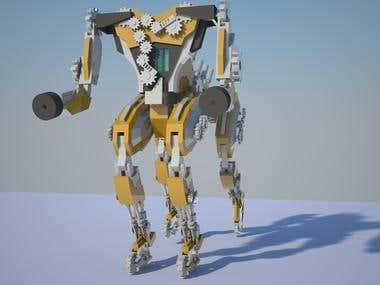 3d robots.