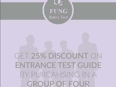 Advertisement for FUNG Entrance Test