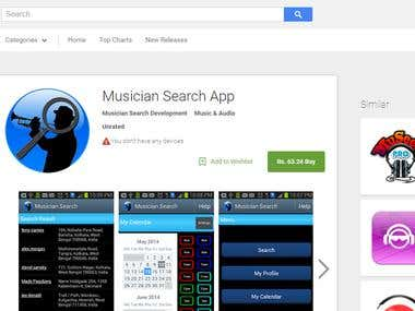 Musician search App - Android