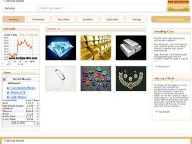 Jewellery Web Portal