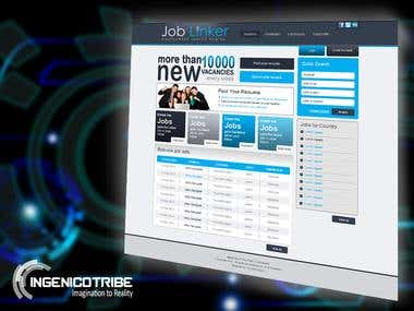 Job Linker Website Design