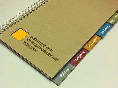 Booklet of Institute for Contemporary Art in Yerevan