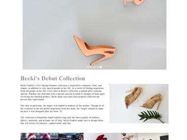 Shoe retail website