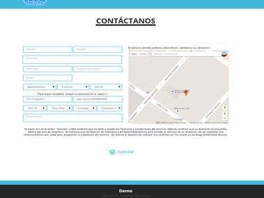 Formulario de contacto con geolocalización