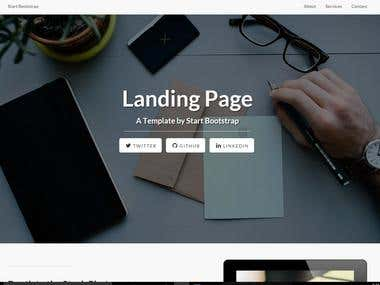 Awesome responsive template
