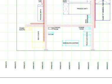 Plot Plan for Textile Plant