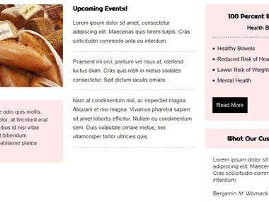 Wordpress Bakery Theme