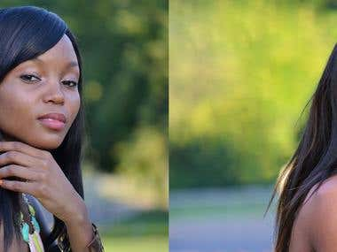 Young African American Woman before and after