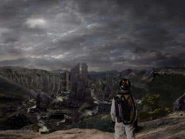 """The Lost Planet\"" Matte Painting"
