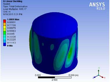 FEA Analysis of Tank