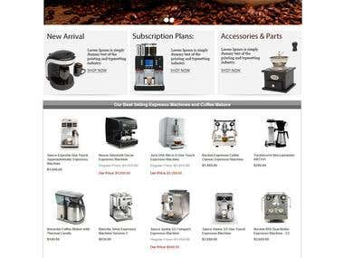 Coffee beans & machine selling website