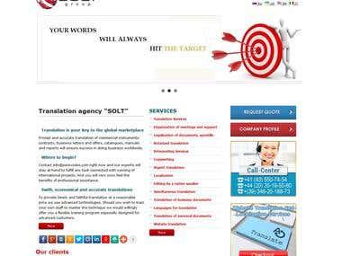 TRANSLATION COMPANY WEBSITE «SOLT»