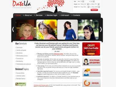 MARRIAGE AGENCY WEBSITE «DATEUA»