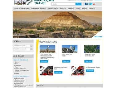 TRAVEL AGENCY WEBSITE «MEXICO EXPERTS TRAVEL»