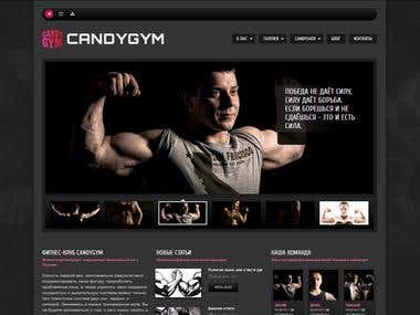 SPORT GYM WEBSITE «CANDYGYM»